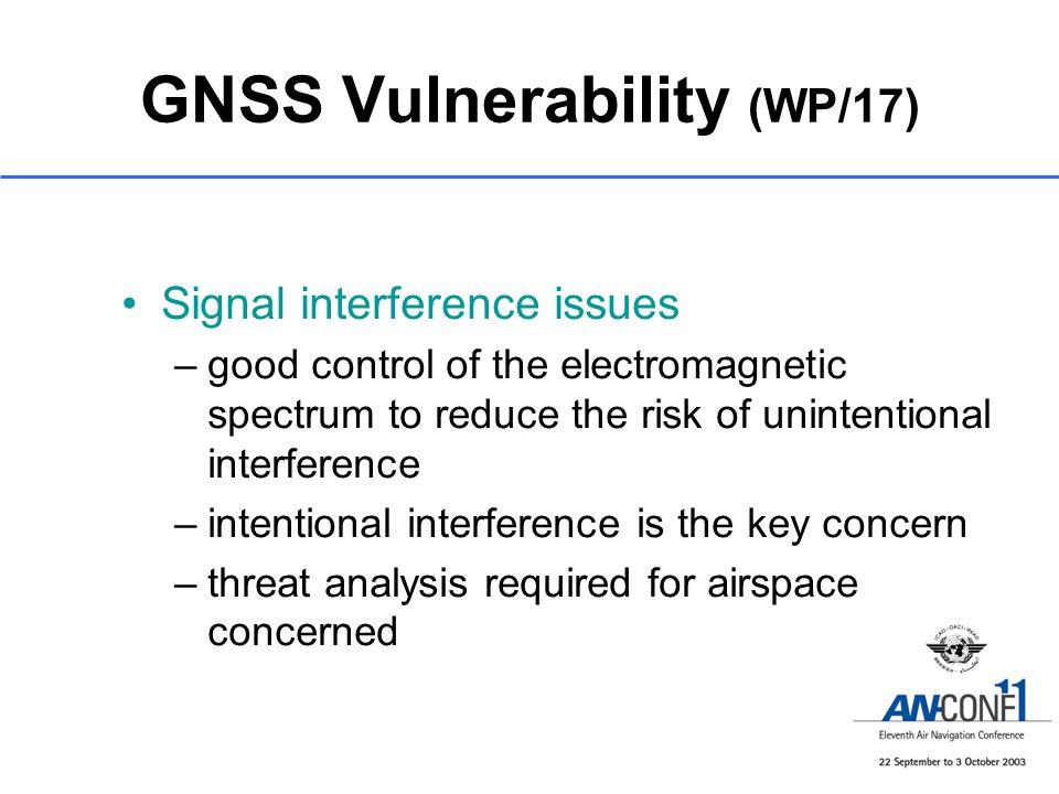 GNSS Vulnerability (WP/17)