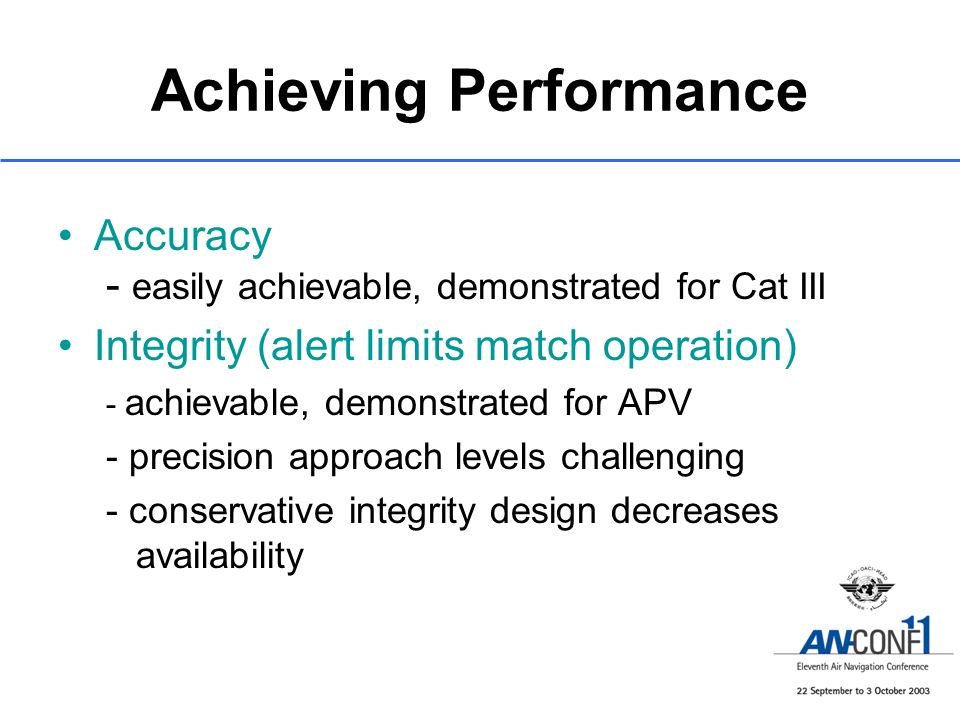 Achieving Performance