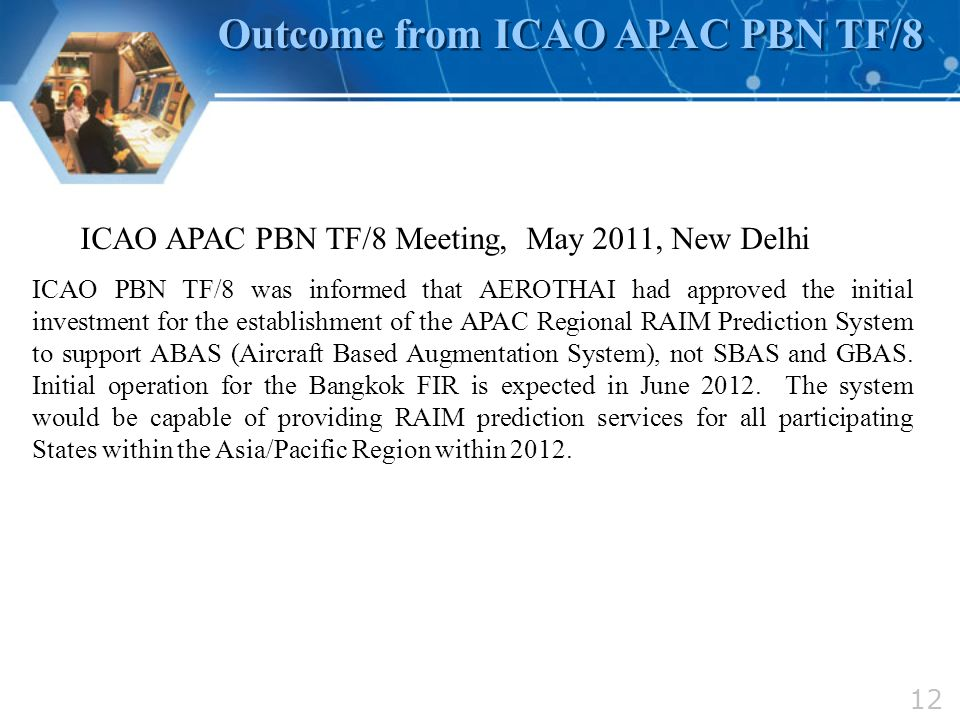 Outcome from ICAO APAC PBN TF/8