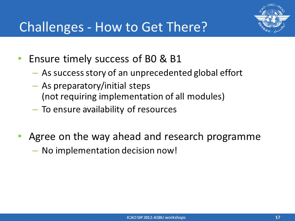 Challenges - How to Get There