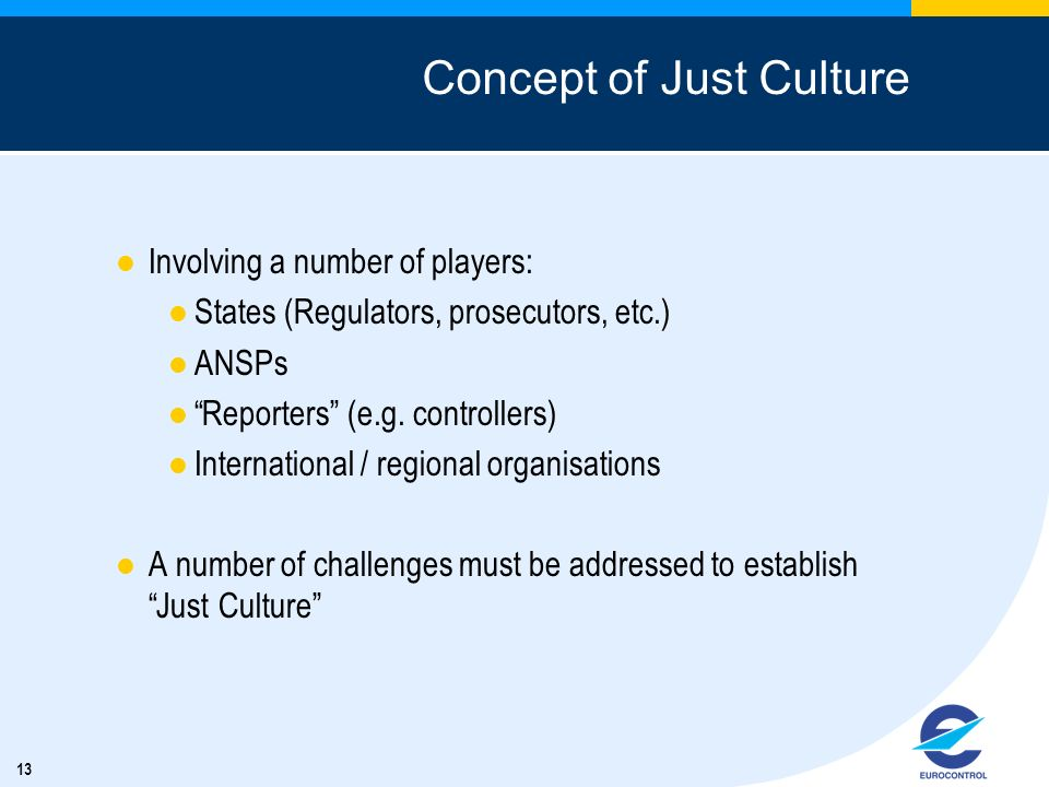 Concept of Just Culture