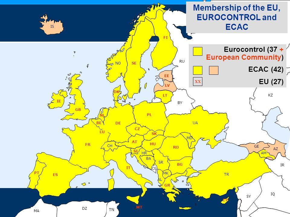 Membership of the EU, EUROCONTROL and ECAC