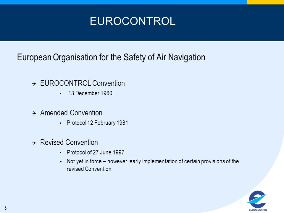 EUROCONTROL European Organisation for the Safety of Air Navigation
