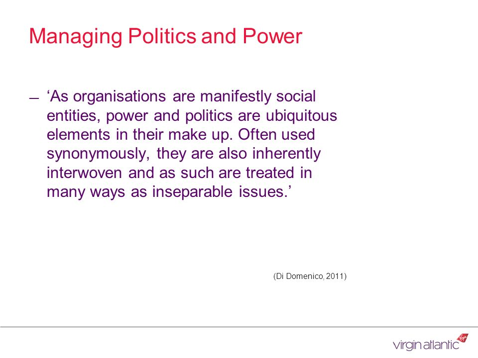 Managing Politics and Power