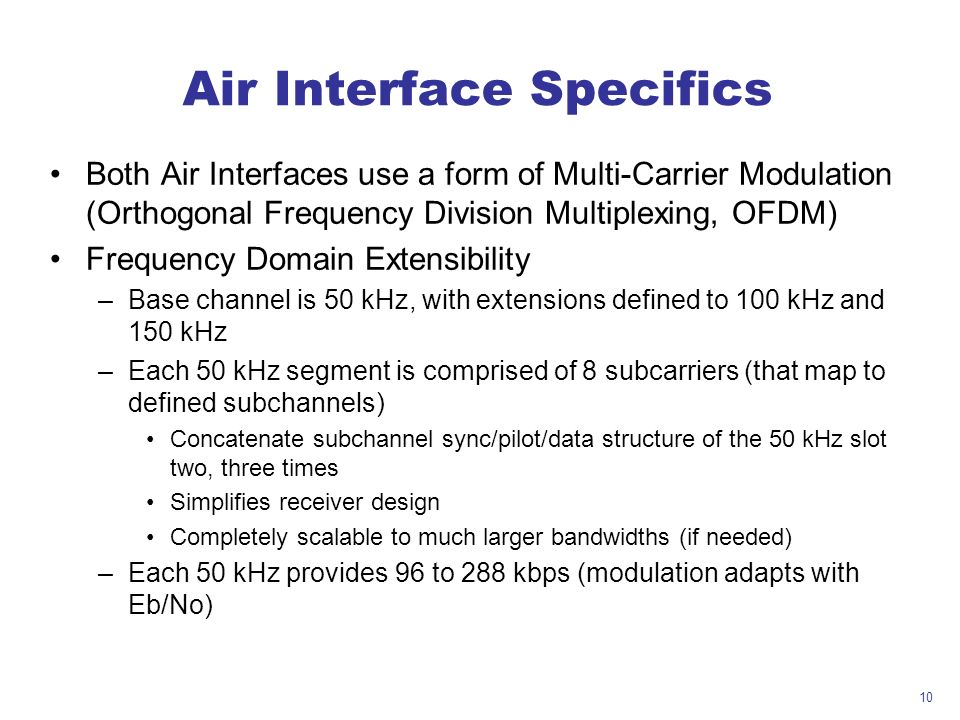 Air Interface Specifics