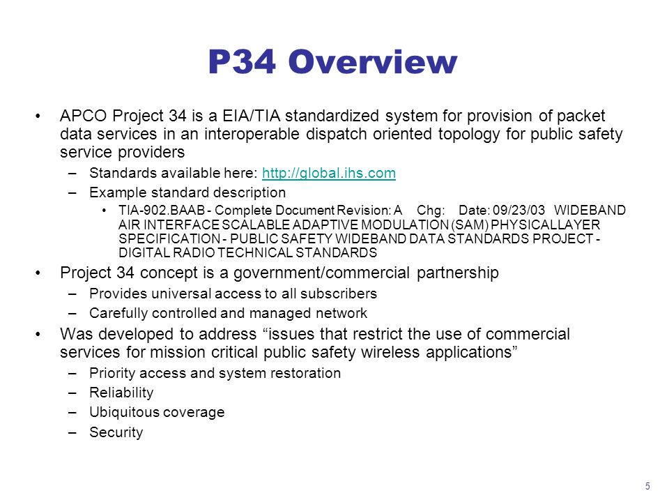 P34 Overview