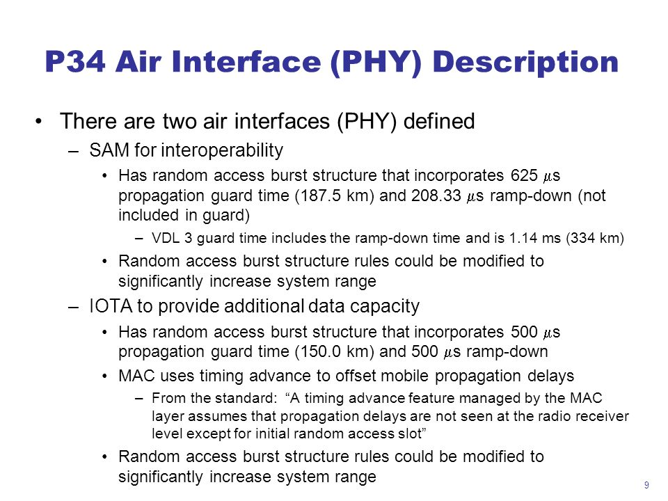 P34 Air Interface (PHY) Description