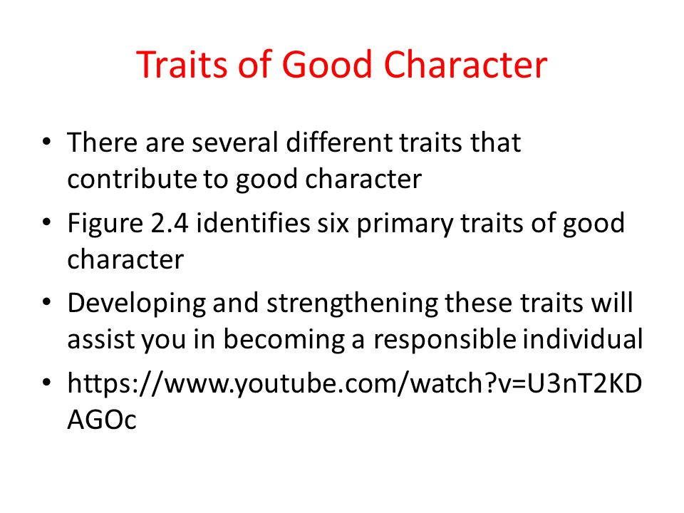 the important values in a person with good character Another way to define good character is to ask what makes a person  core  values: a clear sense of the values that guide your behavior every.