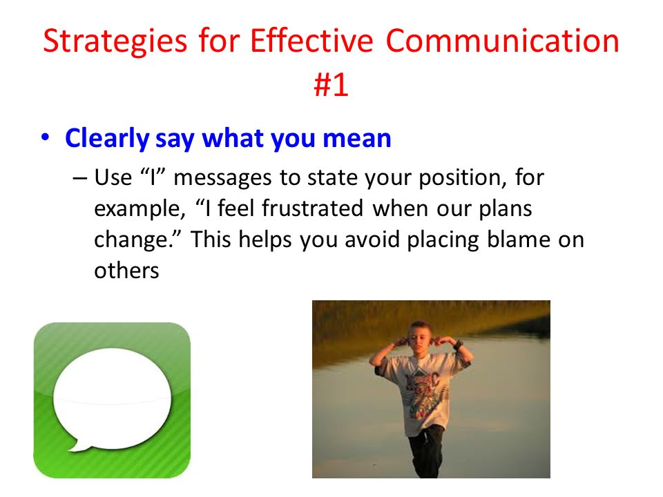 Strategies for Effective Communication #1