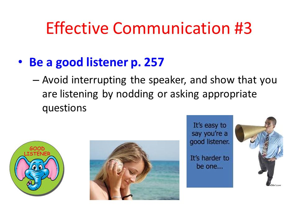 Effective Communication #3