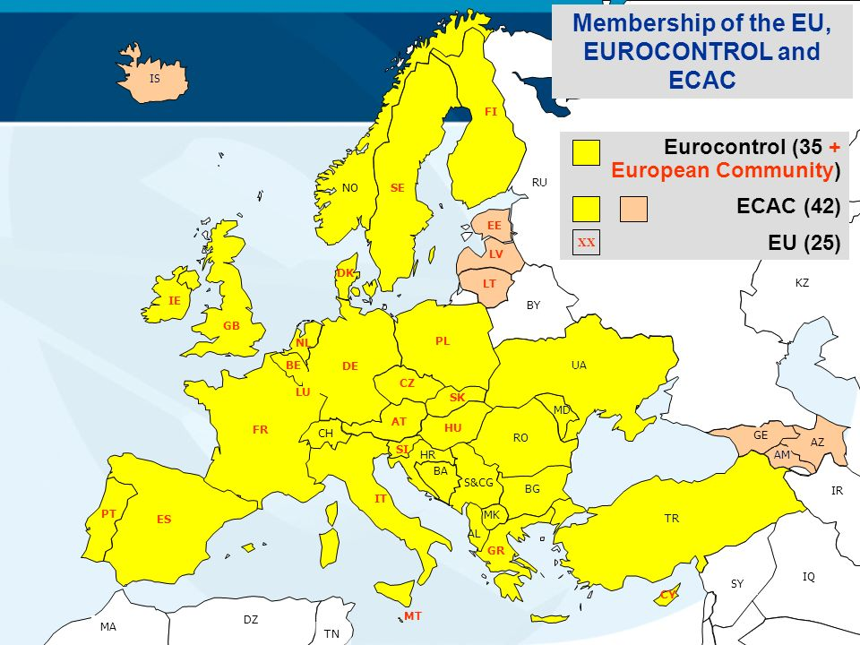 Membership of the EU, EUROCONTROL and ECAC