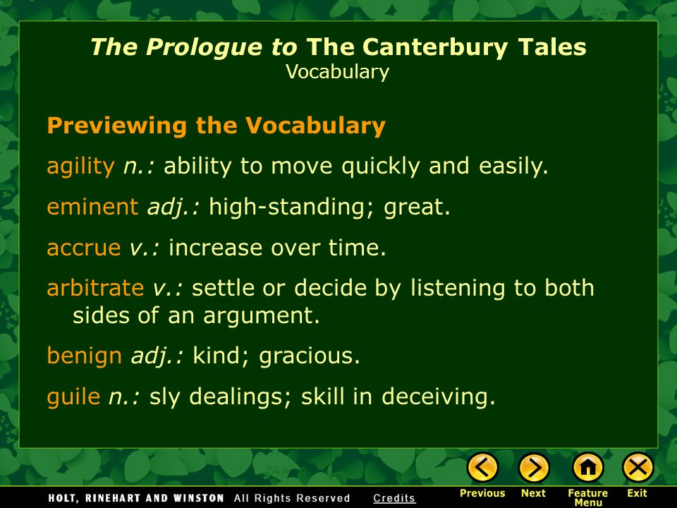 the prologueto the canterbury tales General prologue to the canterbury tales questions and answers - discover the enotescom community of teachers, mentors and students just like you that can answer any question you might have on.