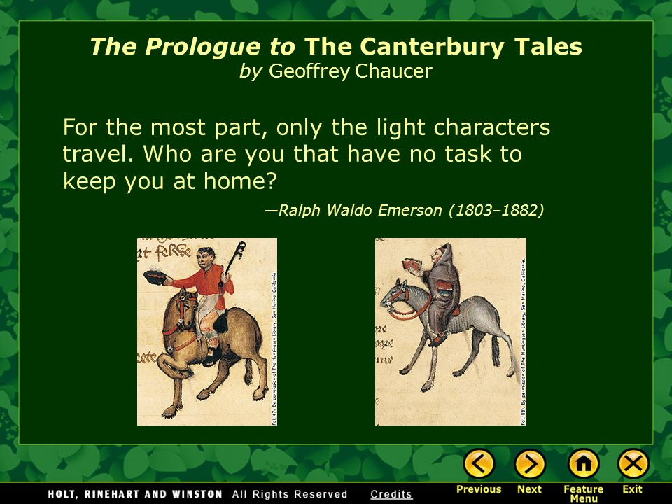 characters in the canterbury tales by geoffrey chaucer