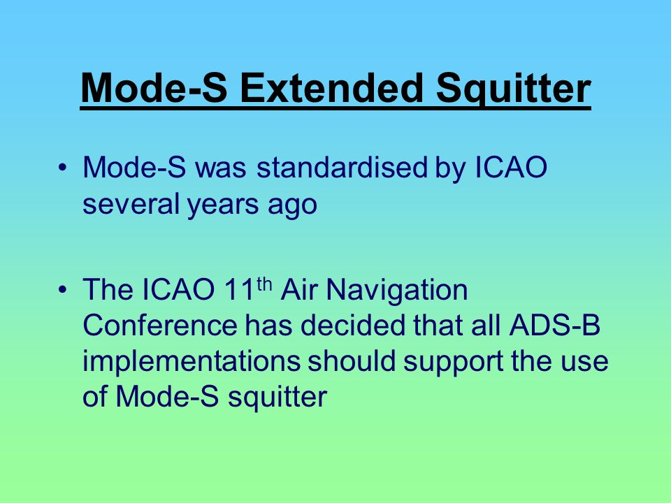Mode-S Extended Squitter