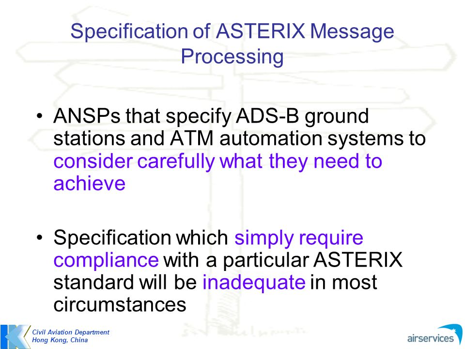 Specification of ASTERIX Message Processing