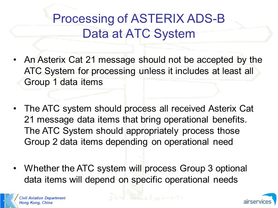 Processing of ASTERIX ADS-B Data at ATC System