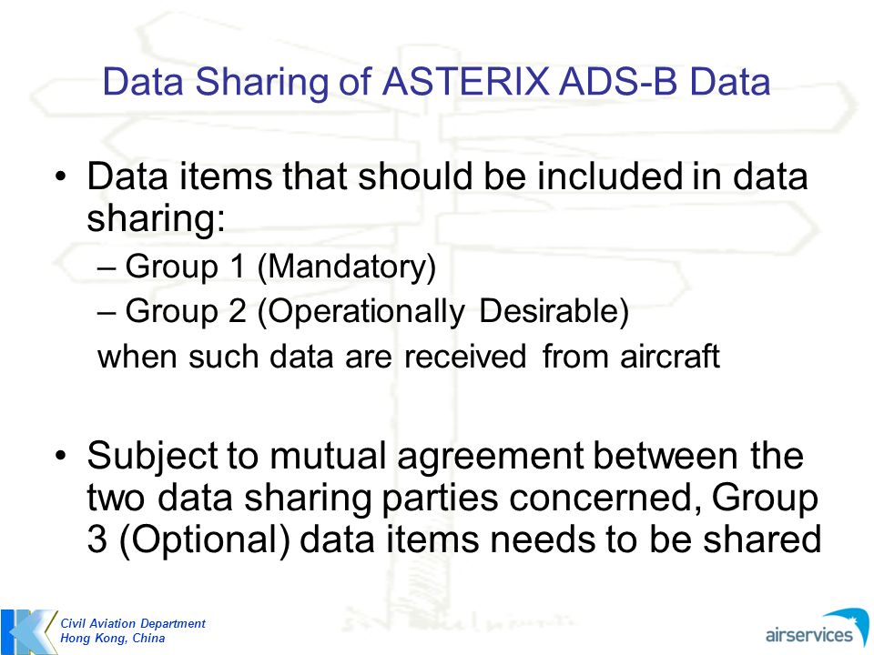 Data Sharing of ASTERIX ADS-B Data