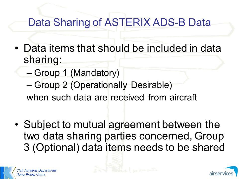 Data Sharing of ASTERIX ADS-B Data