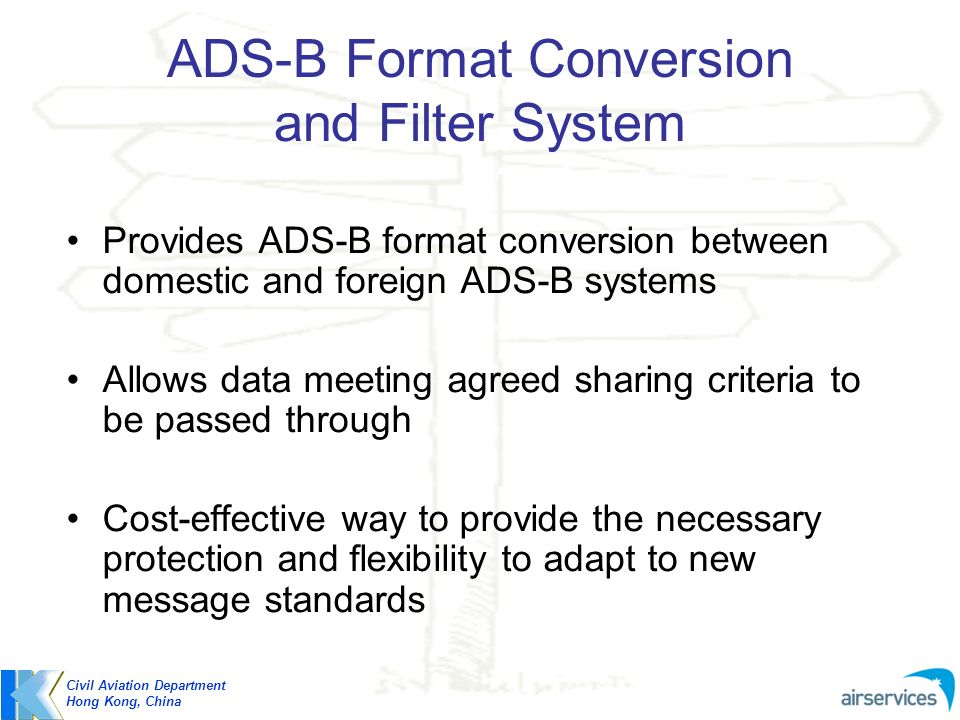 ADS-B Format Conversion and Filter System