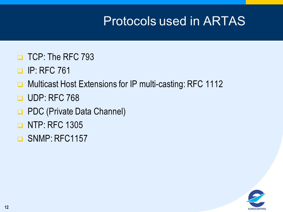 Protocols used in ARTAS