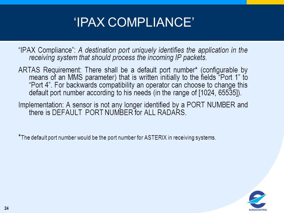 'IPAX COMPLIANCE'