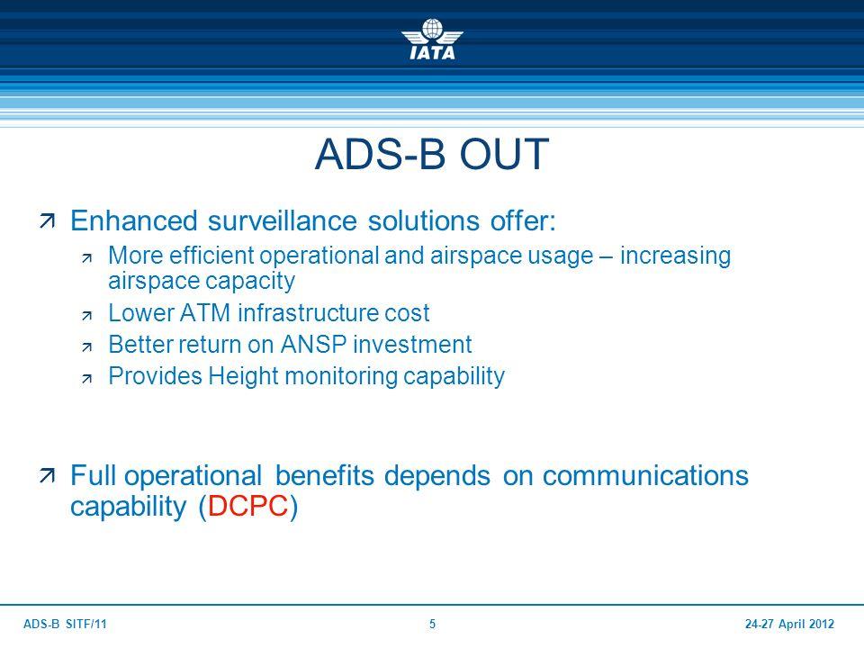ADS-B OUT Enhanced surveillance solutions offer: