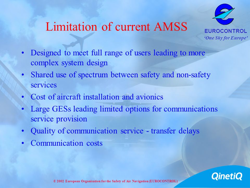 Limitation of current AMSS
