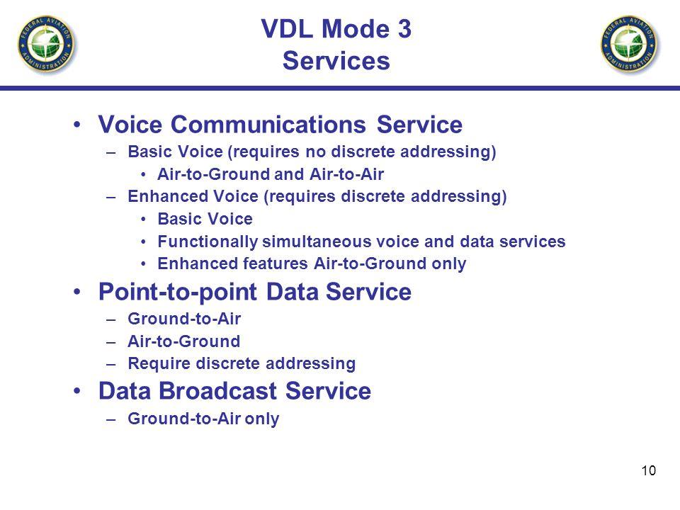 VDL Mode 3 Services Voice Communications Service