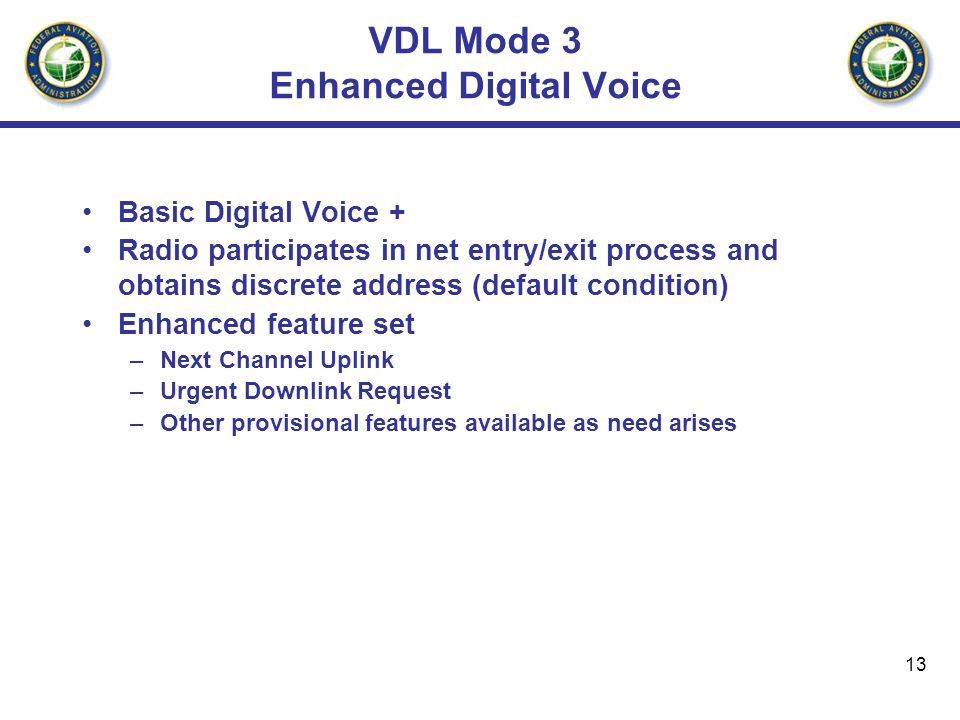 VDL Mode 3 Enhanced Digital Voice