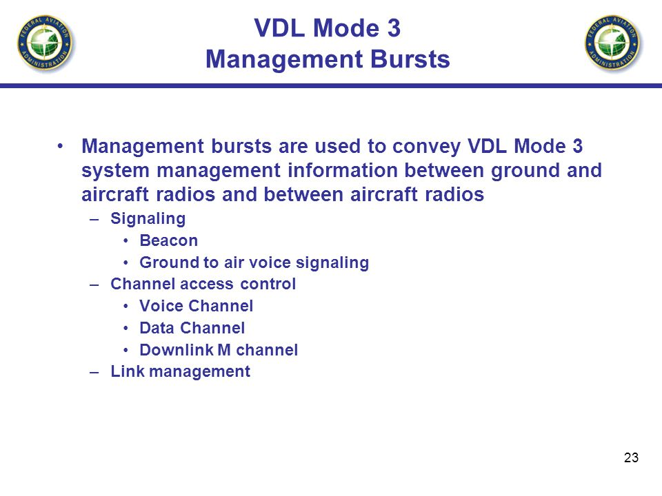 VDL Mode 3 Management Bursts