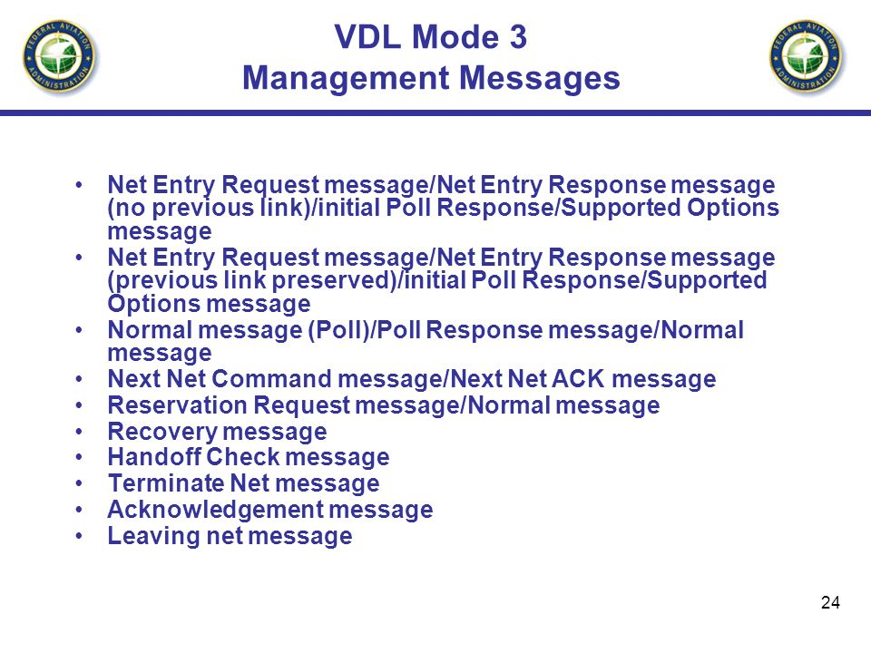 VDL Mode 3 Management Messages