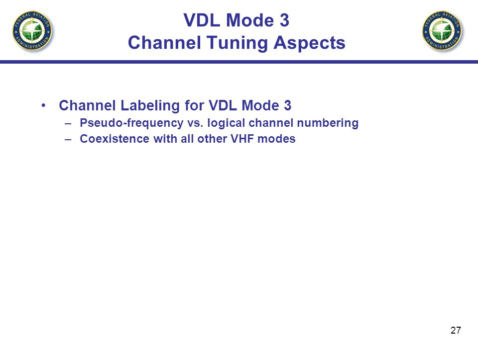 VDL Mode 3 Channel Tuning Aspects