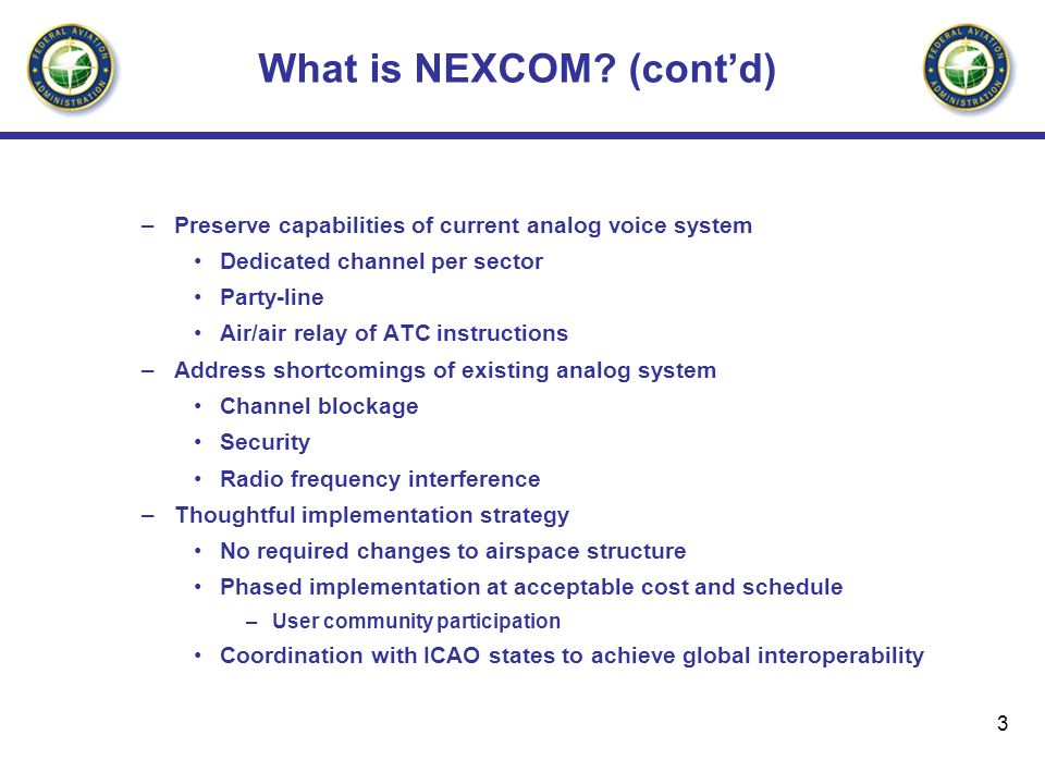What is NEXCOM (cont'd)