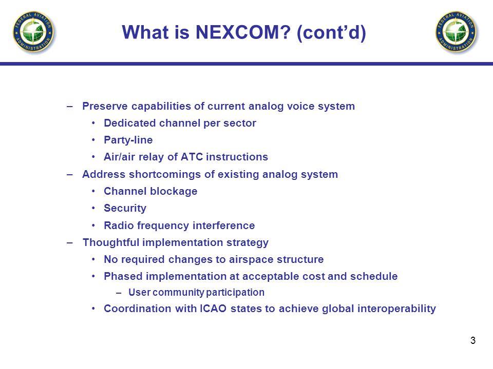 What is NEXCOM (cont'd)