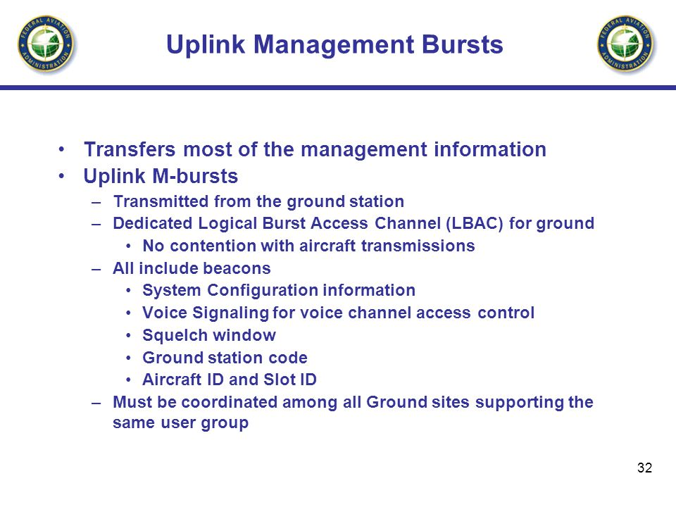 Uplink Management Bursts