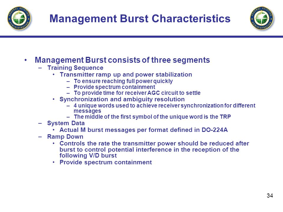 Management Burst Characteristics