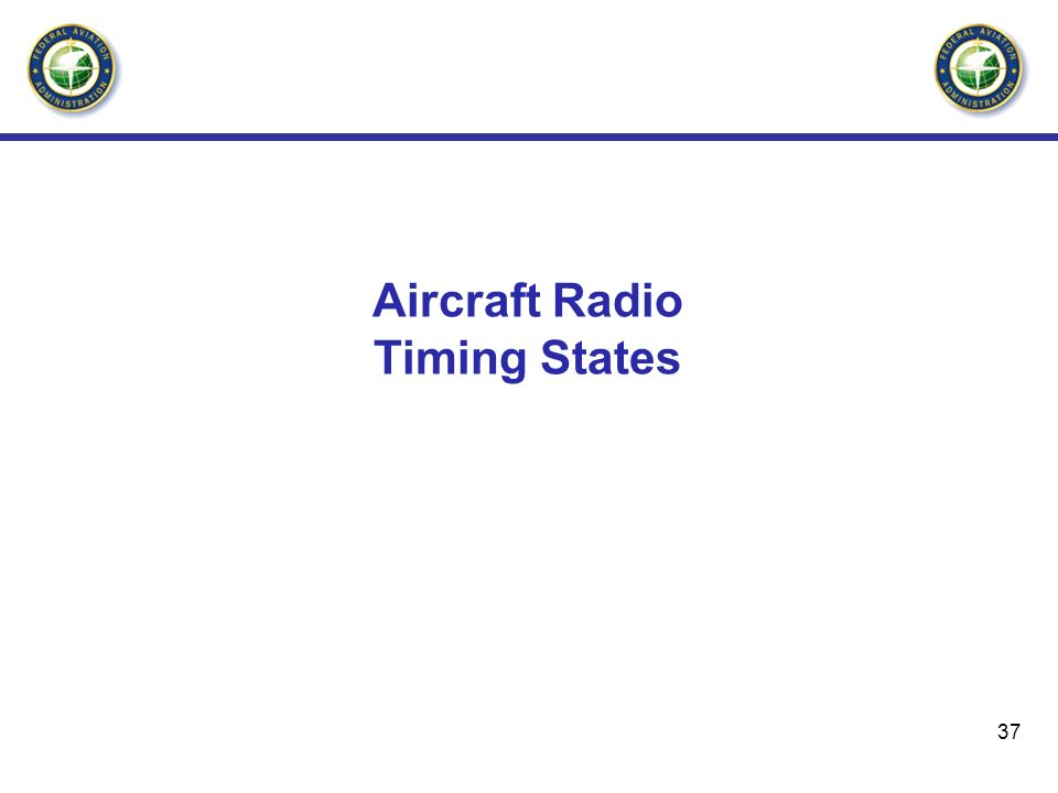 Aircraft Radio Timing States