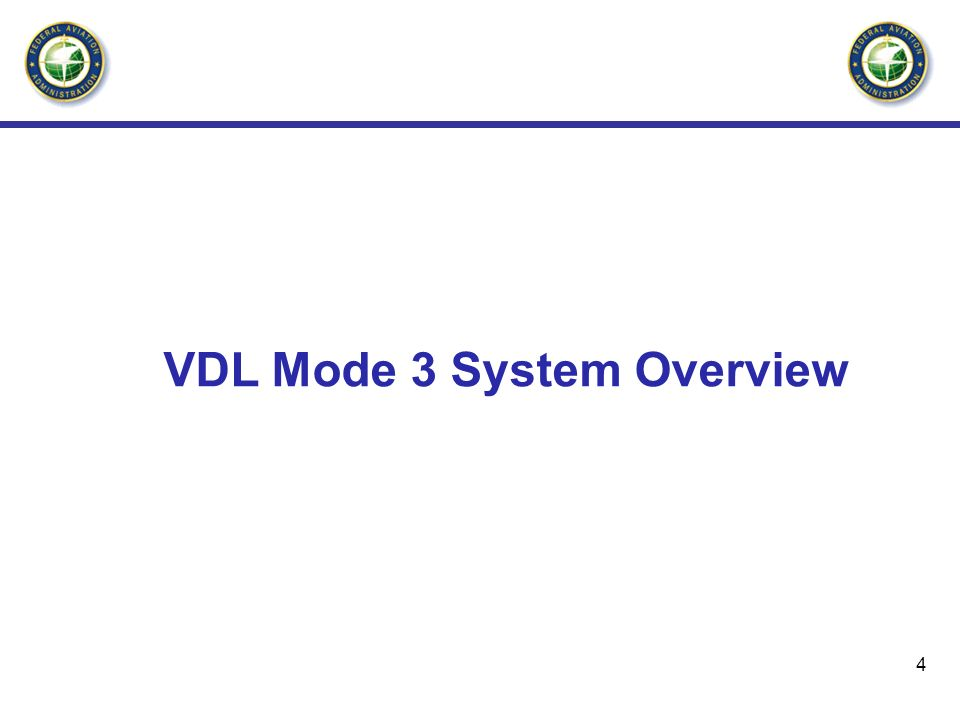 VDL Mode 3 System Overview