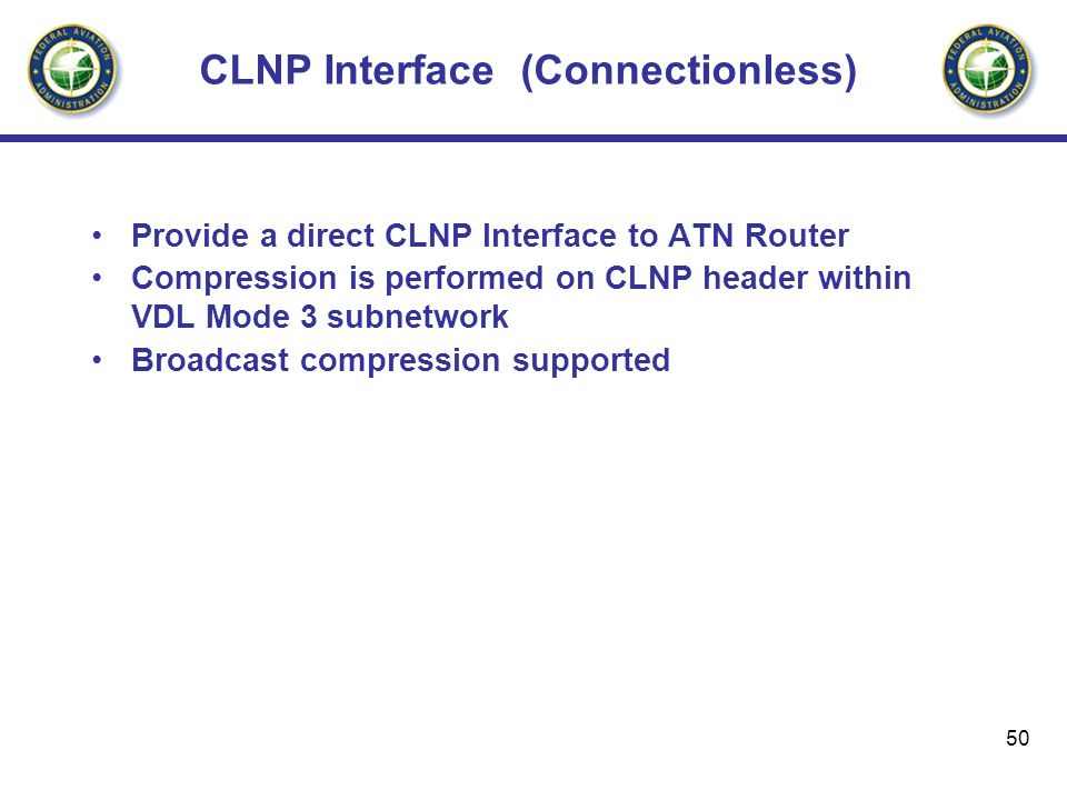CLNP Interface (Connectionless)