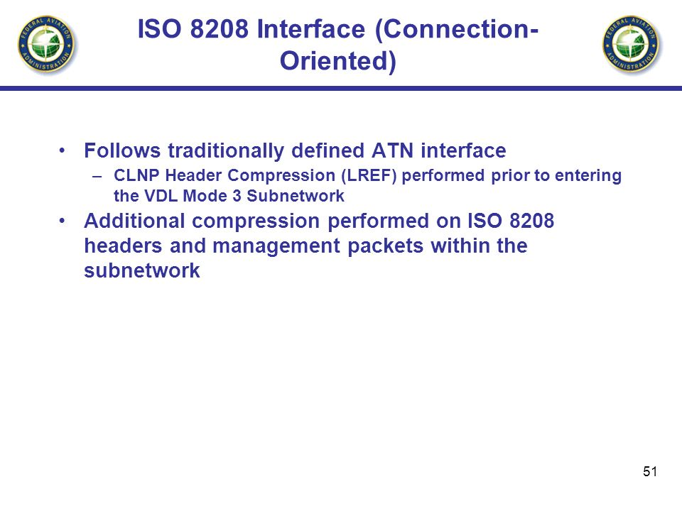 ISO 8208 Interface (Connection-Oriented)