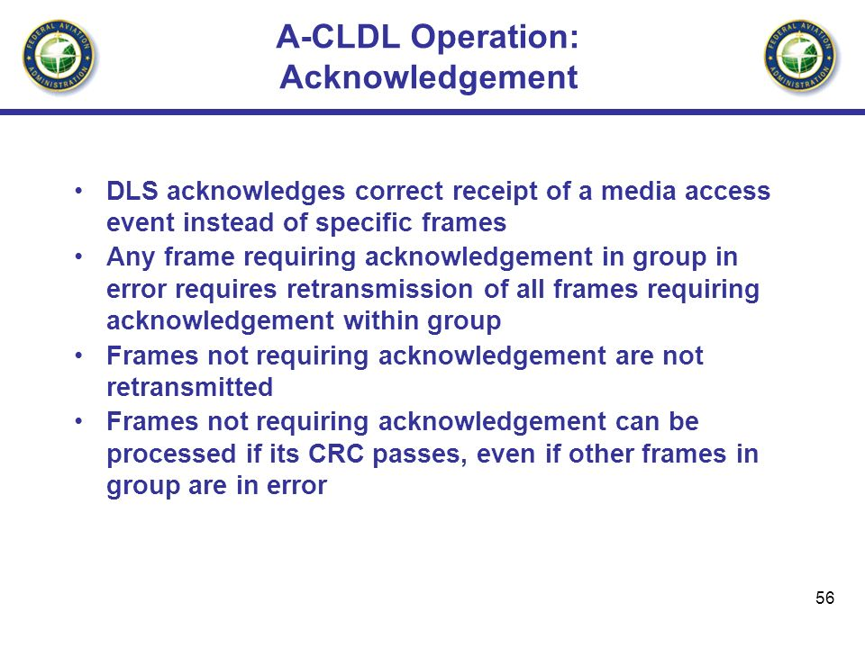 A-CLDL Operation: Acknowledgement
