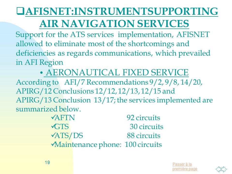 AFISNET:INSTRUMENTSUPPORTING AIR NAVIGATION SERVICES