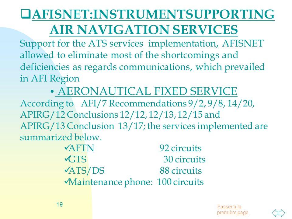 AFISNET:INSTRUMENTSUPPORTING AIR NAVIGATION SERVICES