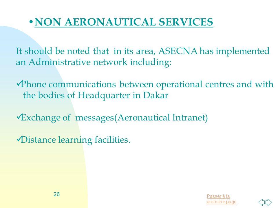 NON AERONAUTICAL SERVICES