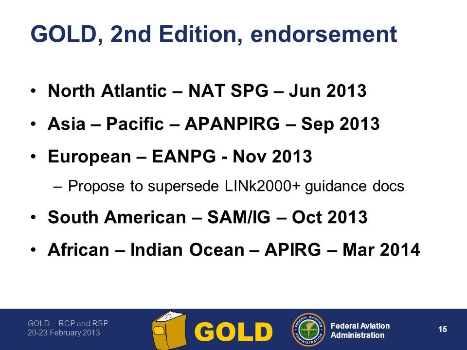 GOLD, 2nd Edition, endorsement