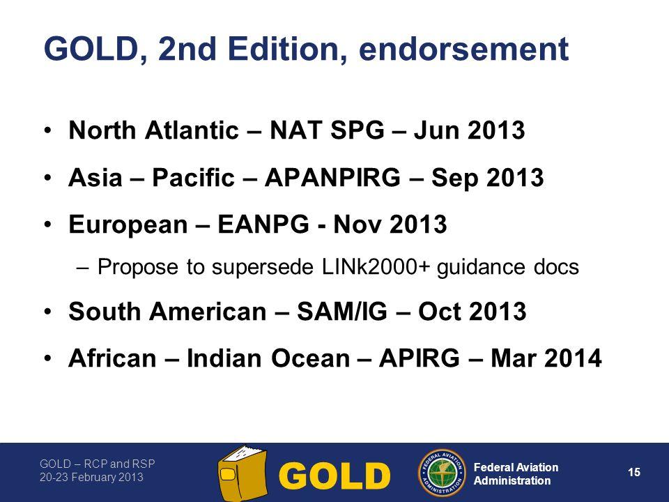 GOLD, 2nd Edition, endorsement