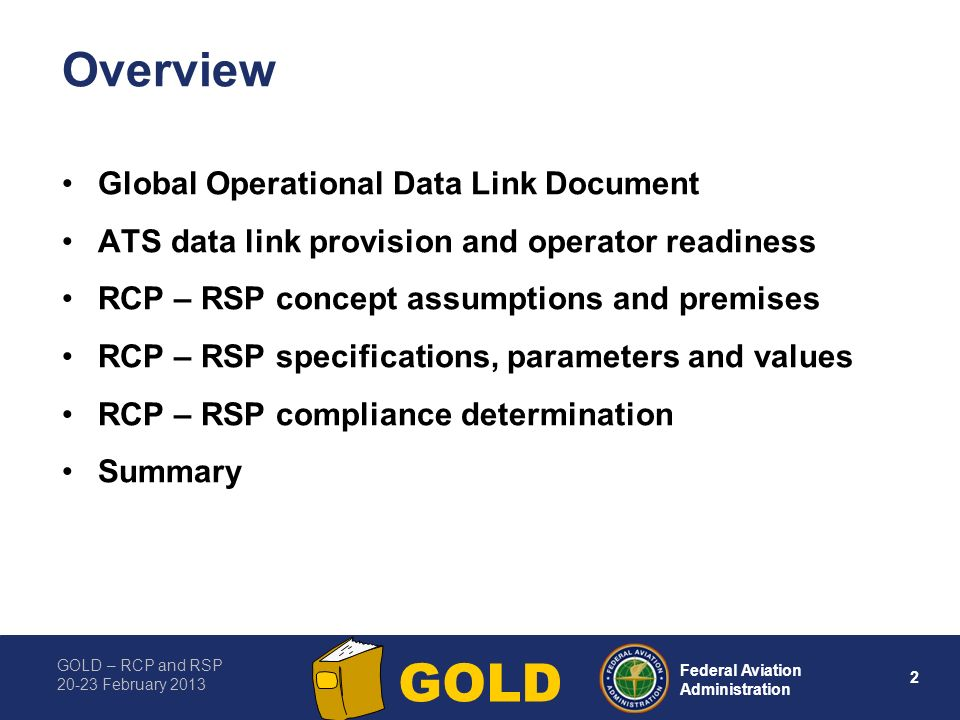 Overview Global Operational Data Link Document