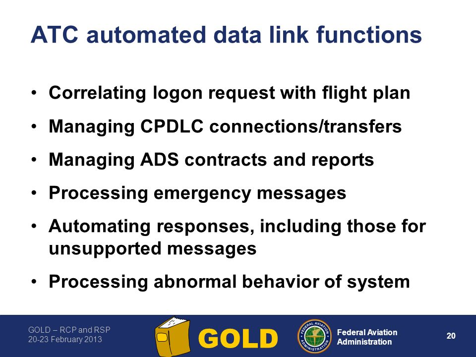 ATC automated data link functions