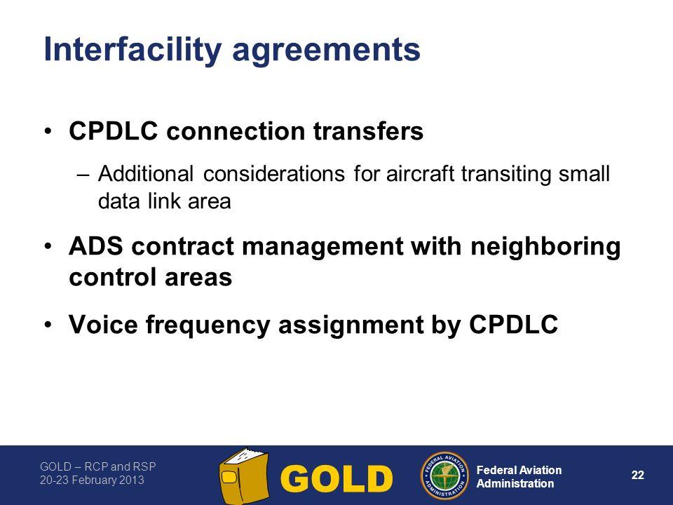Interfacility agreements