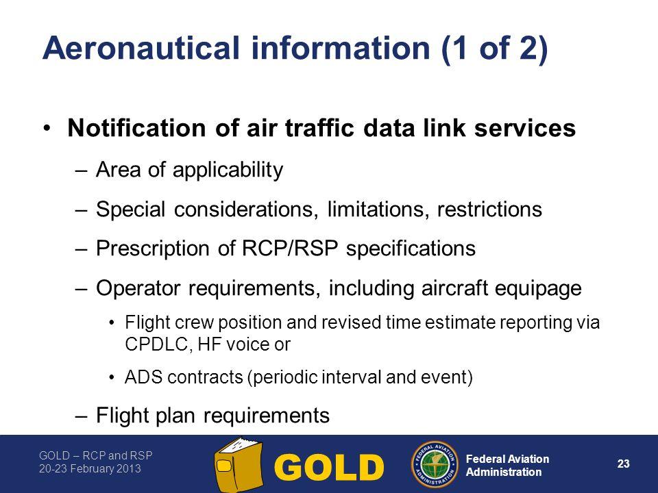 Aeronautical information (1 of 2)
